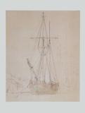 Schonerbrigg in the Harbour , around 1815 Prints by Caspar David Friedrich