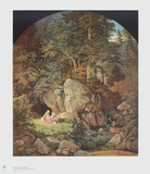 Genoveva in the Forest Collectable Print by Adrian Ludwig Richter