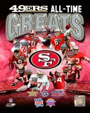San Francisco 49ers All-Time Greats Composite Photographie