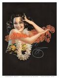 Hawaiian Pin Up Girl c.1946 Affiche par Billy Devorss