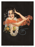 Hawaiian Pin Up Girl c.1946 Print by Billy Devorss