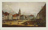 Dresden - The Old Market from the Castle Street Collectable Print by  Canaletto