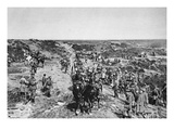 The Difficult Terrain of the Marne Strained the Advance of Forces (B/W Photo) Giclee Print by  German photographer