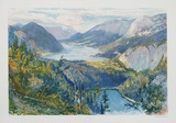 View of Grundlsee Collectable Print by Arthur Jaffé