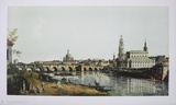 Dresden, from the right Bank of the Elbe Collectable Print by  Canaletto