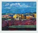 Porto d'Ischia , 1953 Samlartryck av Hans Purrmann