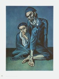 Old Beggar with a Boy Reproductions pour les collectionneurs par Pablo Picasso