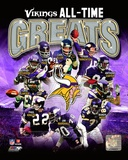Minnesota Vikings All-Time Greats Composite Fotografa