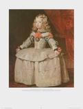 Infantin Margaretha Teresa in a White Dress, 1656 Kunstdrucke von Diego Rodriguez de Silva y Velazquez