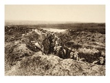 Infantry Reserves Stand in Readiness During the Battle of the Marne, 1918 (B/W Photo) Giclee Print by  German photographer