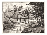 The Hut of J.J. Rousseau (Litho) Giclee Print by  French