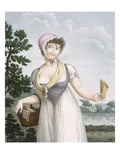 La Marchande De Plaisirs, Engraved by Pomel (Coloured Engraving) Giclee Print by  French