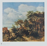 Cottage by the Sea Collectable Print by Jan Lievens