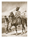 A Bengal Lancer and His Boxer Captive Giclee Print by Richard Caton Woodville