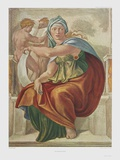 Sibylle of Delphi Collectable Print by  Michelangelo Buonarroti