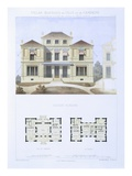 Roman House, from 'Town and Country Houses Based on the Modern Houses of Paris', C.1864 Giclee Print by  Olive