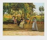 The Pergola, 1868 - Il Pergolato Affiches par Silvestro Lega