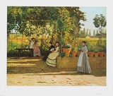 The Pergola, 1868 - Il Pergolato Prints by Silvestro Lega