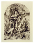 Rosalind and Touchstone, Act Iii Scene 2, in as You Like It, by William Shakespeare (1564-1616) Giclee Print by  English