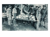 Inspecting Bread at a Bakery in France, Illustration from 'The Illustrated War News', January 1917 Giclee Print by  French Photographer