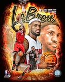 Lebron James 3 Time MVP Portrait Plus Photo