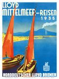 Lloyd Mittelmeer-Reisen c.1935 Print