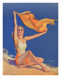 Sunshine Pin Up Girl c.1940s Giclee Print by Rolf Armstrong