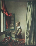 Girl Reaing a Letter Collectable Print by Jan Vermeer