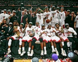 The Miami Heat Celebrate Winning Game 5 of the 2012 NBA Finals Photo