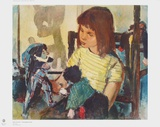 Child Playing Collectable Print by Bert Heller