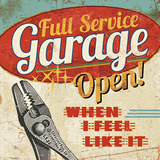 Mancave I (Full Service Garage) Posters by  Pela