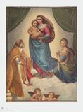 Sistine Madonna Samletrykk av Raphael,