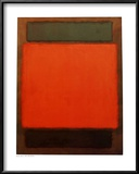 Orange, Brown Prints by Mark Rothko