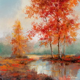 Autumn's Grace II Print by T. C. Chiu