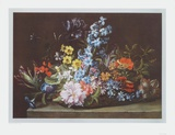 Basket of Flowers Collectable Print by Jan Hecke