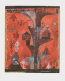 The Houses-Tree Collectable Print by Paul Klee