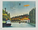 View of the Bridge in Sèvres Collectable Print by Henri Rousseau