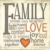 Family Typography Affiches par Jo Moulton