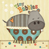 Tiny Bubbles Poster by Jo Moulton