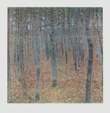 Beech Trees (hand-made paper) Collectable Print by Gustav Klimt