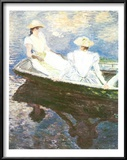 Girls on a Boat Art by Claude Monet