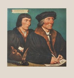 Sir Thomas Godsalve and his Son Collectable Print by Hans Holbein the Younger