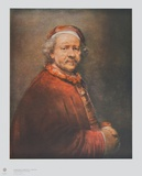 Self-Portrait aged old Collectable Print by  Rembrandt van Rijn