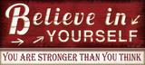 Geloof in jezelf, met Engelse tekst: Believe in Yourself Schilderij van Jennifer Pugh