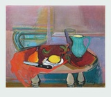 Still Kife with green Jug , 1943 Collectable Print by Rudolf Levy