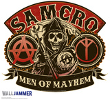 "Samcro Men of Mayhem WallJammer 48"" Wall Decal"