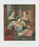 Drei Musizierende Damen Sammlerdrucke