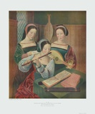 Three Ladies Making Music Collectable Print