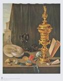 Still Life with Tall Golden Cup Reproduction pour collectionneurs par Pieter Claesz