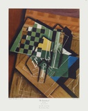 The Checkerboard Collectable Print by Juan Gris